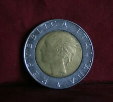 500 Lire 1988 Italy Bi Metallic World Coin KM111 Piazza del Quirinale Braille