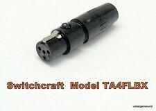 Switchcraft TA4FLBX Large Flex Tini-QG Mini XLR 4 Pin Female Cable Mount - Black