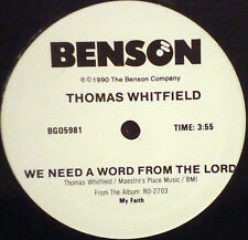 """SEALED Black Gospel THOMAS WHITFIELD We Need A Word From The Lord BENSON 12"""""""