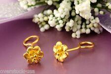 SMART Pure 24K Yellow Gold Stud Earrings / Floral Earrings 0.90g