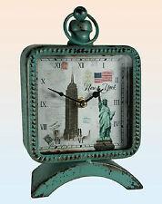 Orologio da tavolo rettangolare Vintage vecchia sveglia cartolina New York