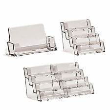 More details for business card holders acrylic display stand retail counter & wall dispensers