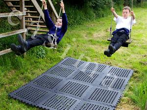 Playground Garden Anti-Slip Swing Slide Patio Climbing Boat Safety Mats Tiles