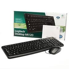 LOGITECH DESKTOP SET MK120 WIRED KEYBOARD AND MOUSE SET / BRAND NEW / UK SELLER
