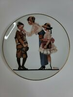 "Collectible 1980 Norman Rockwell ""Off To School"" Theme Commemorative Plate"