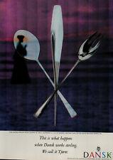 1959 Dansk Sterling Silverware Beach Fork Knife Spoon Vintage Print Ad 2105