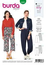 Burda SewingPattern 6283 Misses' Pants, Pull-On, Harem or Cropped Wide-Leg