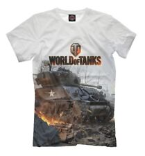 world of tanks white t-shirt - WOT online gamer official game clothing