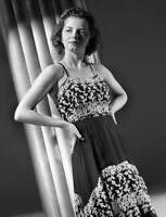 OLD CBS RADIO TV PHOTO Radio Actress Maxine Roscoe Models An Evening Gown 3