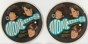2 MONKEES CEREAL BOX RECORDS Forget that Girl Valleri Colgems 33 13RPM