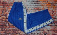 Puma Striped Vintage Tape Logo Baggy Blue Tracksuit Bottoms Joggers Pants XL