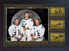 Neil Armstrong Michael Collins Buzz Aldrin signed Apollo 11 photo Autograph PR.