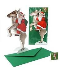 "3-D Pop-Up Cartolina natale ""BABBO / Babbo Natale"", Artigianale, con busta"
