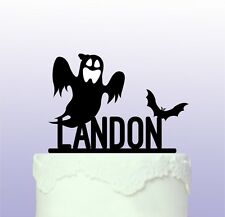 Ghost & Bat Cake Topper that can be personalised - Halloween