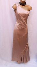 Karen Millen Champagne Satin One Shoulder Evening Ballgown Maxi Dress 14 UK
