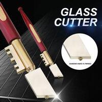 Diamond Tip Glass Cutter Oil Feed Glass Cutting Tool Portable Wheel Blade Kit