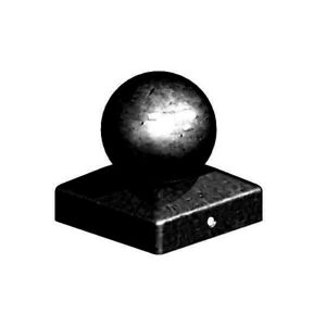 """Black Metal Ball Post Cap Final to suit 3"""" (75mm) and 4"""" (100mm) Posts"""
