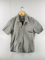 Vegas Denim Men's Vintage Short Sleeve Casual Snap Button Shirt Size XL Brown