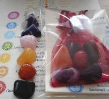 Chakra Healing Crystals 7 Reiki Stones Colorful Set and Gift Bag