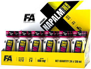 FA Nutrition Napalm Shot 24 x 120ml - Pre Workout Booster Shots + Bonus!