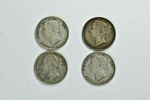 Newfoundland 20C Twenty Cent 1896, 1900, 1899, 1890 lot Victoria 99c NO RESERVE