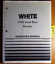 WFE White 5100 Seed Boss Planter Owner's Operator's Manual 437 229A 2/81