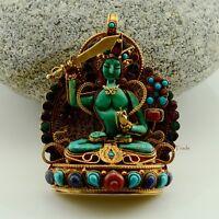 Tibetan Buddhist Ritual Sacred Ghau Prayer Box Silver Pendant from Patan, Nepal