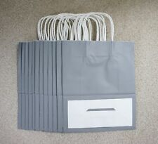 More details for quality twist handle paper party and gift carrier bags black grey white brown