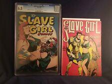 SLAVE GIRL#1,2 CGC LARSEN GG ART COMP. SET. RARE GOLDEN AGE CLASSIC COVERS!@!@