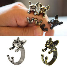 Unique French Bulldog Animal Rings Gift for Women and Men Fashion Jewelry DSUK
