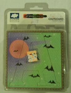Cloud 9 Fiskars Spooky collection chipboard monogram letters glossy bats