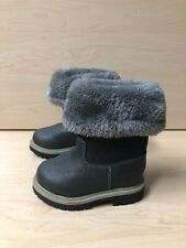 CARTER'S TODDLER BOYS SNOW BOOTS LEATHER GRAY SIZE US 5