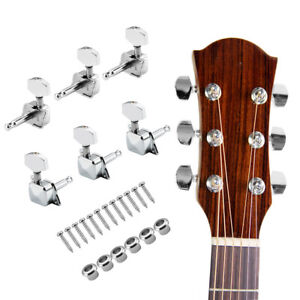 6x Porfessional Guitar Tuning Pegs Electric/Acoustic Guitar Tuners Machine Heads