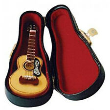 Dolls House Miniature 1:12th Scale Acoustic Guitar In Case