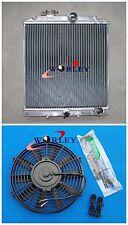 Aluminum Radiator &FAN for 1992-2000 Honda CIVIC EG EK B16 B18 32MM PIPE