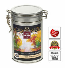 100% PURE AUTHENTIC JAMAICA BLUE MOUNTAIN COFFEE IN A TIN - FRESHLY ROASTED