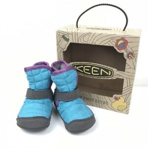 NIB My first Keens Rover Crib Shoe Infant Boot Baby Bootie Blue 6 Months 6M