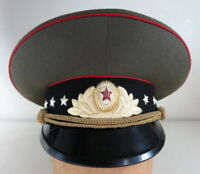 RUSSIAN MILITARY 1981 3 STAR GENERAL VISOR HAT NEW WITH TAG SIZE 54 #879