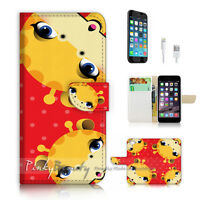 ( For iPhone 6 / 6S ) Wallet Case Cover P2802 Giraffe