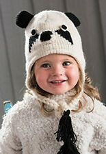 Children's Panda Hat. Fair Trade product, 100% wool, handmade in Nepal