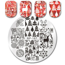 Nail Art Stamping Plates Christmas Xmas Tree Jingle Bell Image Plate BORN PRETTY