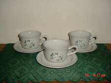"6-PC THE COVINGTON EDITION ""AVONDALE"" COFFEE CUPS & SAUCERS/WHT-BLU/CLEARANCE!"