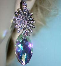 Austrian Crystal Chandelier Earrings Rhinestone Bridal Prom Pageant 2.6 in AB