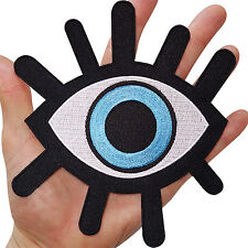 Big Evil Eye Embroidered Iron Sew On Clothes Bag Jacket Shirt Large Patch Badge