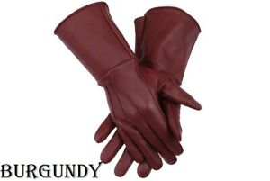 MEN'S MEDIEVAL COSTUME COSPLAY  UNLINED LEATHER GLOVES