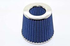 Cono Doble Universal Filtro De Aire 3 puertos W155 H130MM Cuello Azul 65mm