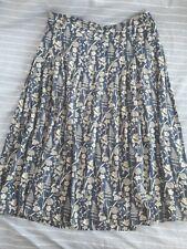 Seasalt Sea Mist navy floral skirt, size 12 (would fit 14 see measurements)