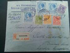 Nederland combinatie 7 x Veth op aanget. brief van Veenendaal naar Buenos Aires