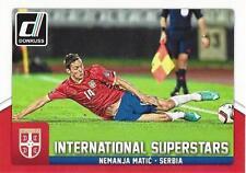 2015 Donruss Soccer 'International Superstars' #80 Nemanja Matic Serbia Chelsea