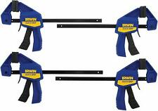 IRWIN QUICK-GRIP Clamps, One-Handed, Mini Bar, 6-Inch, 4-Pack, 140lb of force